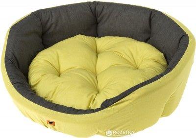 Лежак для собак и кошек Ferplast Diamante Medium 53х50х16 см Желтый с черным (82966099 Желтый с черным)