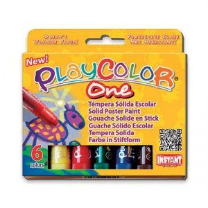 Set de 6 sticks de gouache solide pour enfant Playcolor One Basic