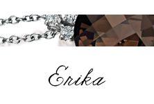 #Bibigi   Collezione #Erika   Gioielli in oro bianco, diamanti e quarzo fumè.