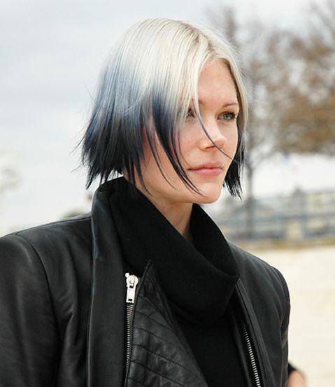 Grey / Black ombre | Hair | Pinterest