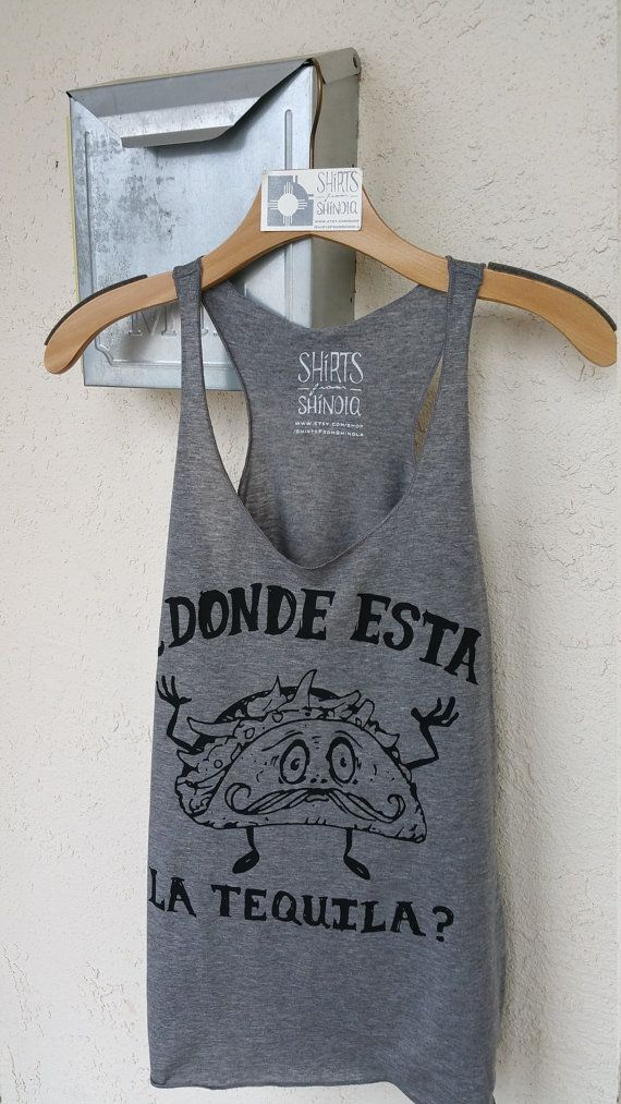 Tacos and Tequila graphic Tank Top Shirt by ShirtsFromShinola