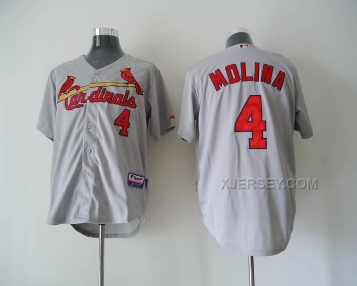 http://www.xjersey.com/cardinals-4-molina-grey-jerseys.html CARDINALS 4 MOLINA GREY JERSEYS Only $34.00 , Free Shipping!