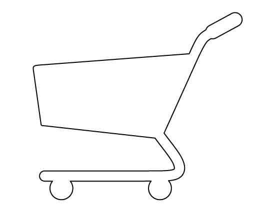 shopping cart pattern use the printable outline for crafts creating stencils scrapbooking. Black Bedroom Furniture Sets. Home Design Ideas