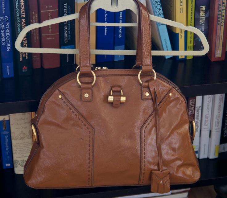 YSL medium patent leather muse bag; 100% authentic (duh!) $500 ...