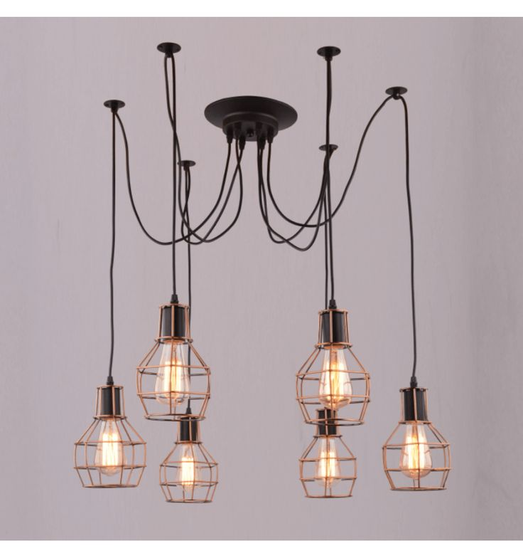 Hanglamp design 6 lichtbronnen - Fera