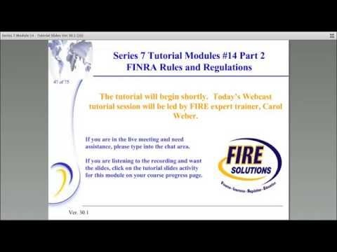Series 7 FINRA Rules & regulations | FIRE Solutions |
