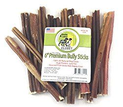 Sancho & Lola's 6-inch Bully Sticks Dogs Made in USA 7oz (11-14) Boutique Grain-Free Beef Pizzle Dog Chew Sticks