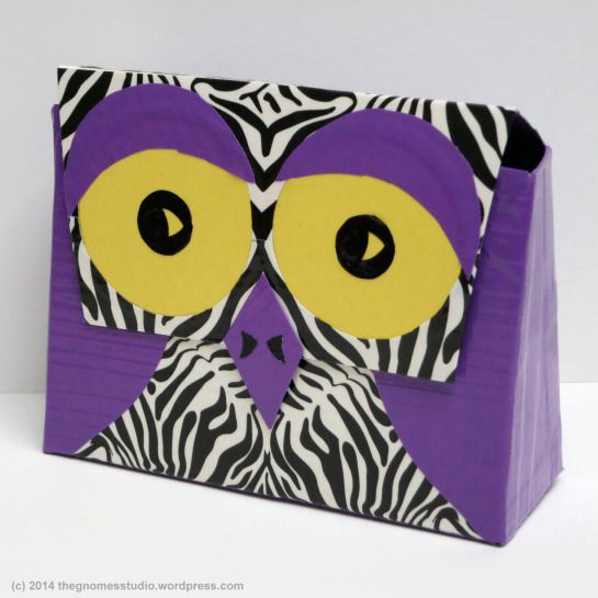 Day 115: Duct Tape Owl Clutch - Created by Tanya Green