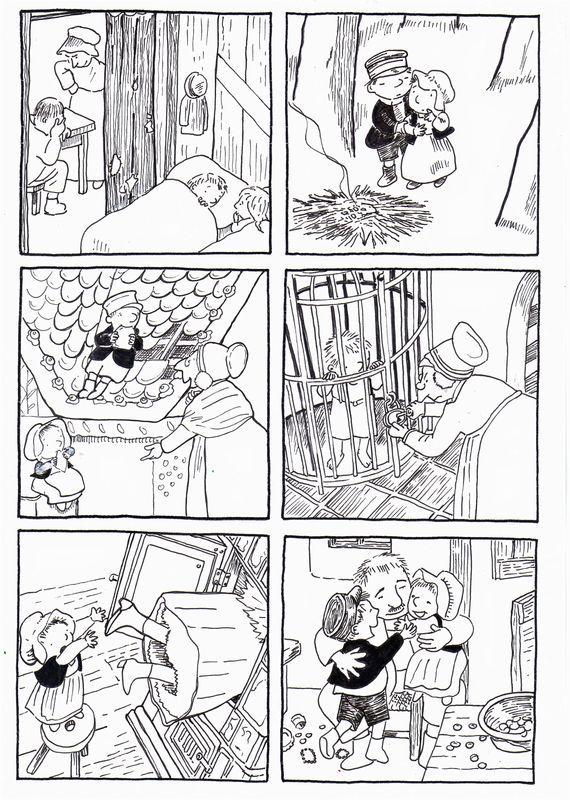 """6 images séquentielles de """"Boucle d'or et les trois ours"""" d'après Rose Celli et les illustrations de Gerda Muller - dis bonjour au soleil"""
