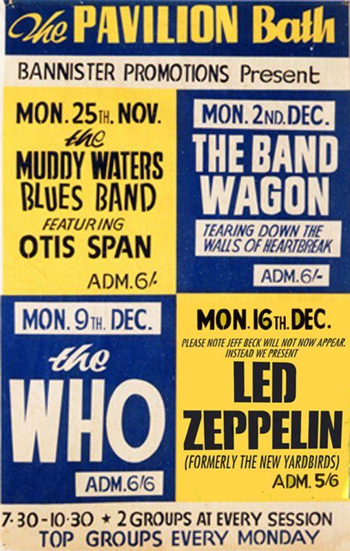 Gig Posters | Led Zeppelin Pavilion Bath poster 1968