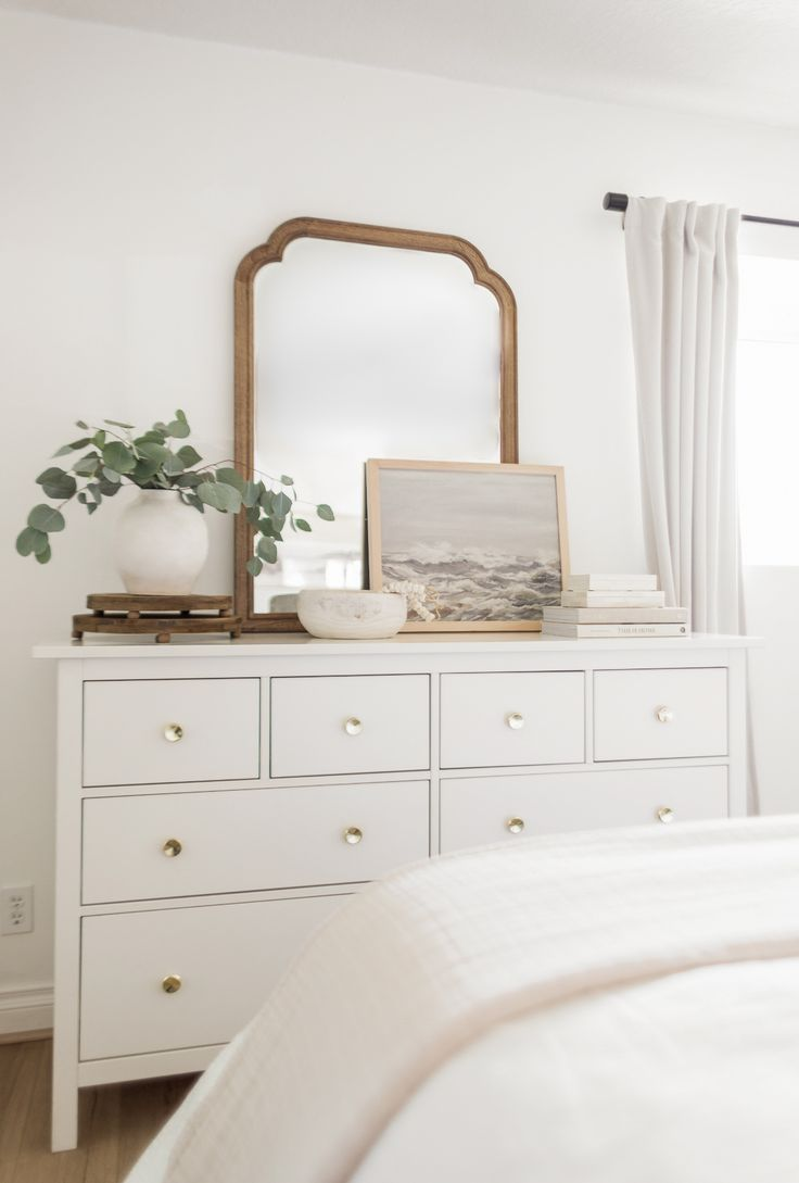 Dresser Roundup Three Styling Tips That Work For Every Tabletop In 2020 Dresser Decor Bedroom Home Decor Home Bedroom
