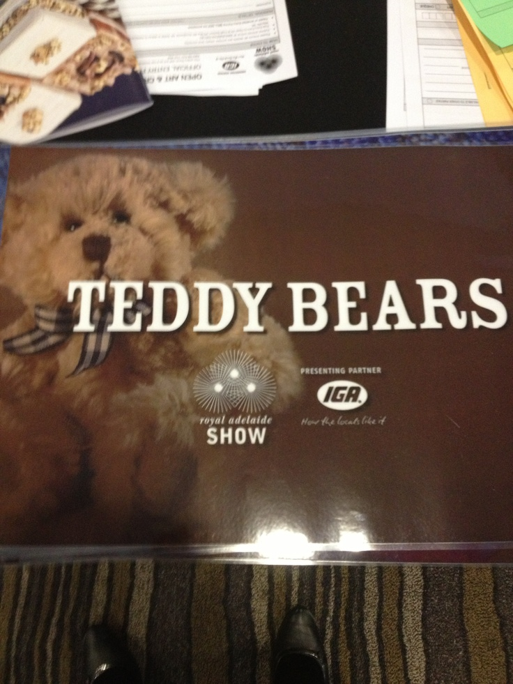 Do you love making teddy bears? Enter your creations into the Royal Adelaide Show! www.theshow.com.au