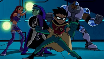 Beast boy stealing Raven cape in a very awesome way (Gonna love the reactions of the Titans) #TeenTitans #BeastBoy