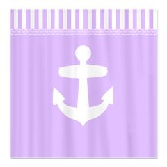 lilac purple anchor shower curtain
