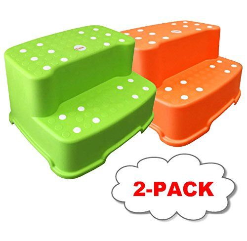 Green and Orange Tenby Living Extra-Wide Extra-Tall Jumbo Step Stool with Removable Non-Slip Caps u0026 Rubber Grips  sc 1 st  Pinterest & 1890 best Step Stools images on Pinterest | Step stools Kids ... islam-shia.org