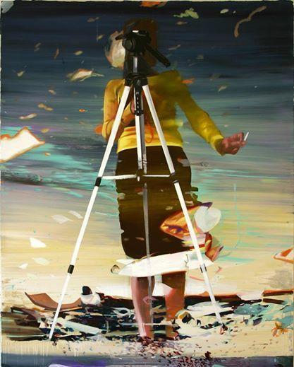 Giuseppe Gonella, Emozione Contagiosa 2014, Acrylic on canvas/Acryl auf Leinwand 210 x 160 cm