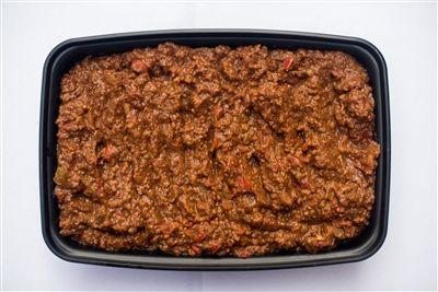 Chicken Chili - Ground Chicken with Onions, Peppers, Jalapeno, Chile Powder, Cumin, Paprika, Salt, Pepper and Crushed Tomato- healthy, gluten free, clean eats, crossfit, paleo, meal prep!