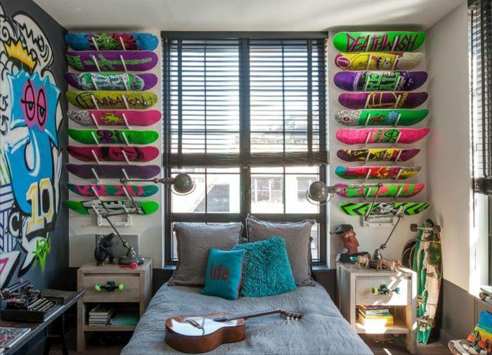 25 melhores ideias de quarto para menino com tema de skate no pinterest quarto de skate. Black Bedroom Furniture Sets. Home Design Ideas