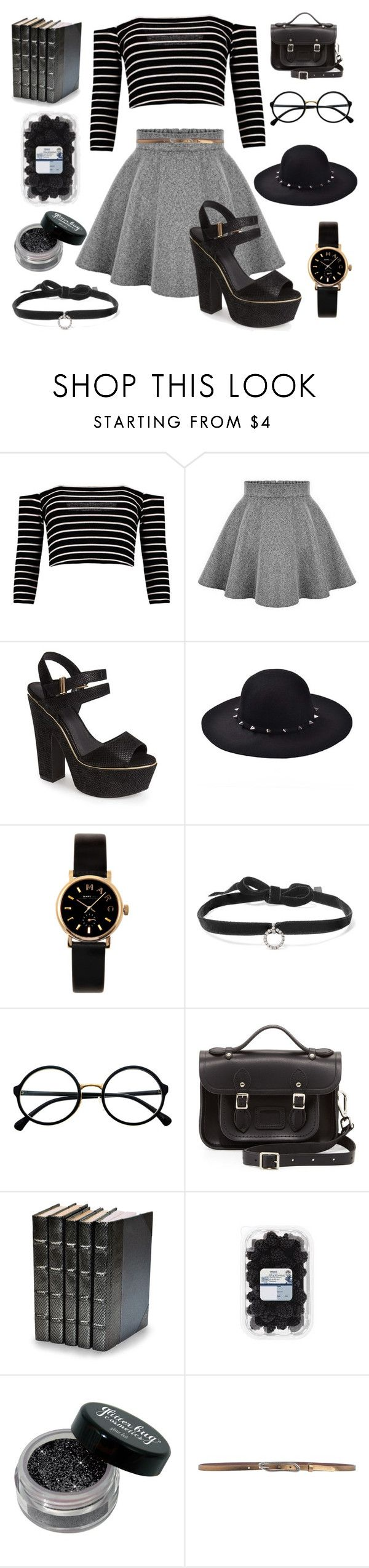 """""""You're a miracle ☄ a miracle 🌸"""" by violenceinsilence ❤ liked on Polyvore featuring Boohoo, Topshop, Marc by Marc Jacobs, DANNIJO, Retrò, The Cambridge Satchel Company, Decorative Leather Books and Mauro Grifoni"""