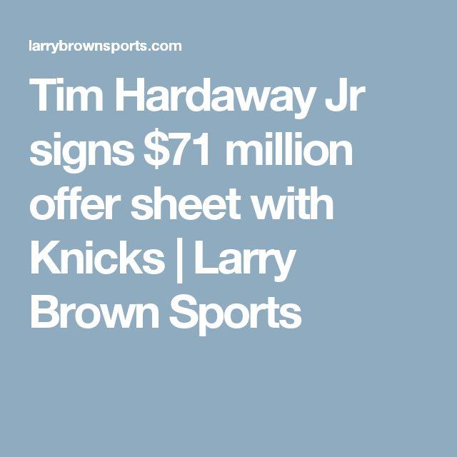 Tim Hardaway Jr signs $71 million offer sheet with Knicks | Larry Brown Sports