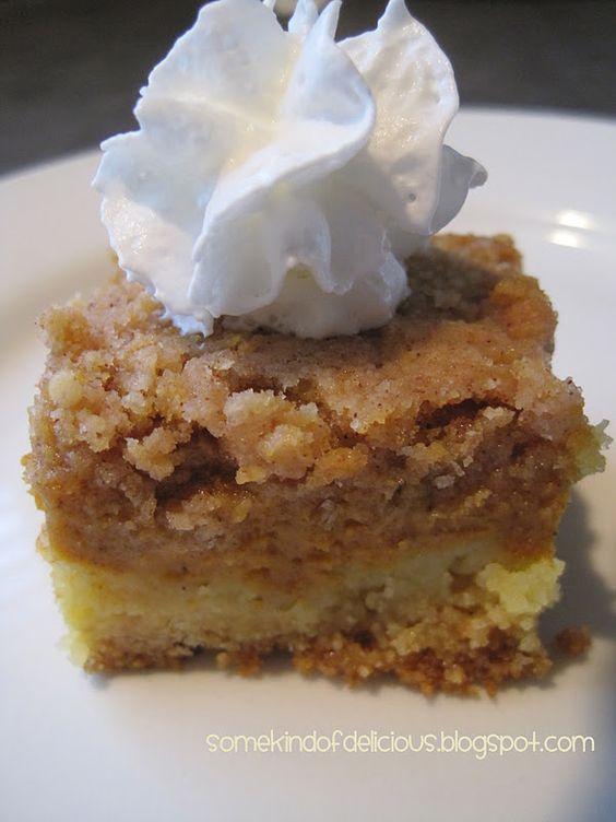 Pumpkin Delight :) Better than pumpkin Pie. New favorite. So many variations!