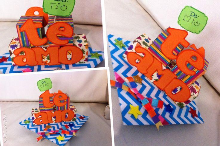 DIY: Mensaje en pirámide de cubos.