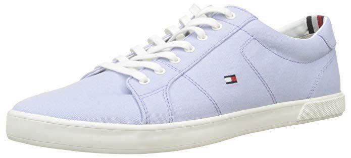 Tommy Hilfiger Herren Iconic Long Lace Sneaker Blau Halogen Blue 425 40 Eu Turnschuhe Herrin Sneaker