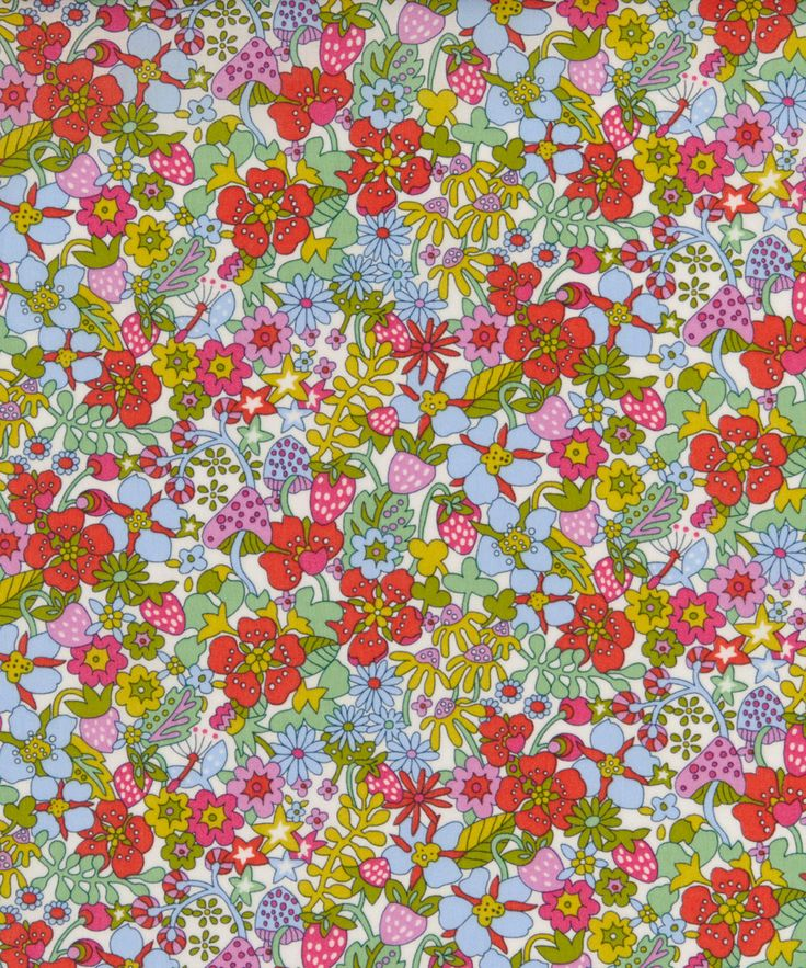 Liberty Art Fabrics Flower Tops Tana Lawn Cotton | Fabric | Liberty.co.uk