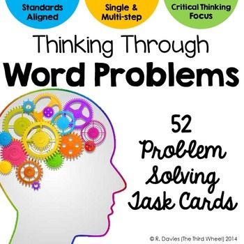 Problem Solving Task Card Bundle: 52 Word Problem Task Cards A combo pack of problem solving task cards includes story problem task cards to help your students with single and multi-step word problems similar to what they might see on the new generation of standardized testing.