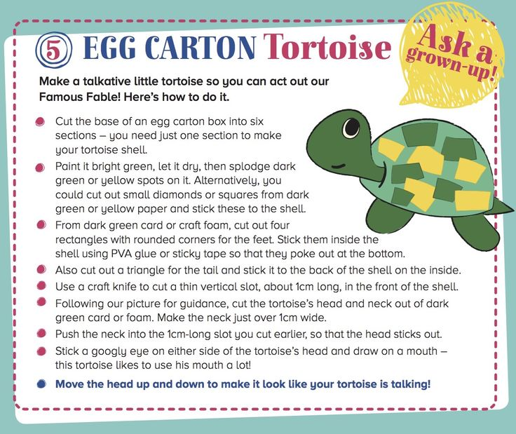 An easy Egg Carton Tortoise to make with kids from Storytime Issue 10. Find out more at ~ STORYTIMEMAGAZINE.COM