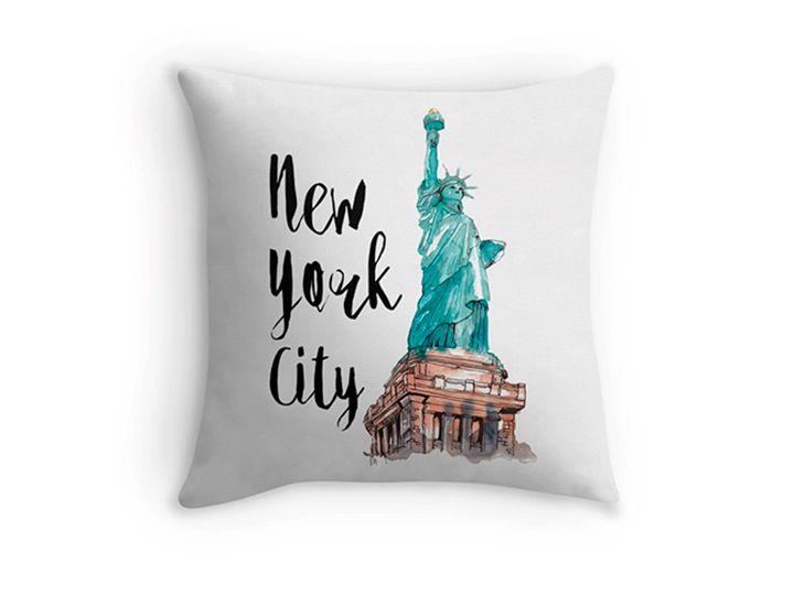 New York City watercolor, Colores intensos gracias a la estampación por sublimación Estampación bajo pedido, es decir: estampado solo para ti