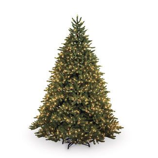 Everyone needs a nice classical artificial Christmas tree to center their holiday around! Love the clear lights!