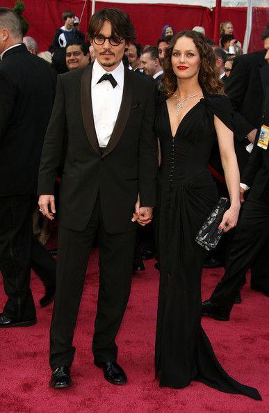 Johnny Depp & Vanessa Paradis 80th Annual Academy Awards - Arrivals