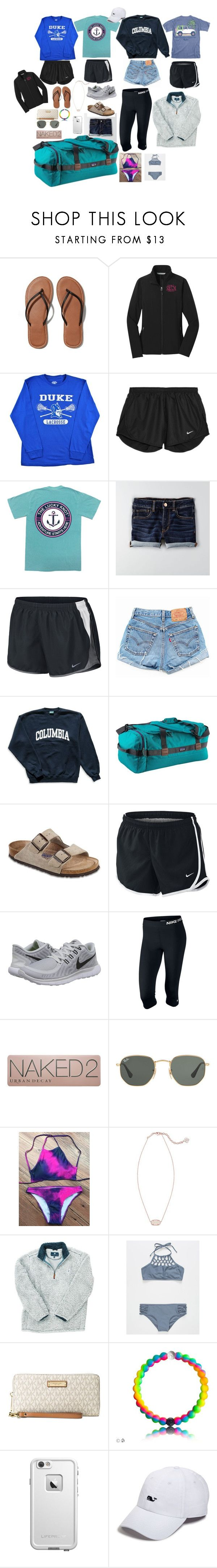 """""""Louisiana here I come"""" by realaddietude ❤ liked on Polyvore featuring Abercrombie & Fitch, NIKE, American Eagle Outfitters, Levi's, Columbia, Patagonia, Birkenstock, Urban Decay, Ray-Ban and Kendra Scott"""