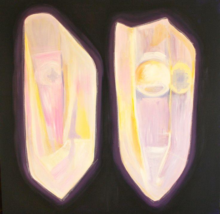 "#elementedenartsearch ""Minerals"" - Kaja Weum 100cm * 100cm Acrylics and pastels on canvas www.kajaweum.com"