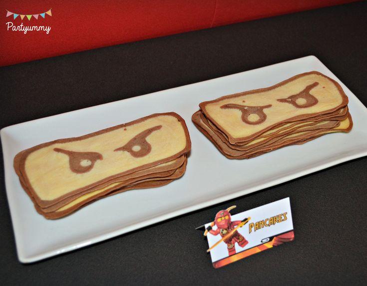 Anniversaire Lego Ninjago crêpes ninja pancake art