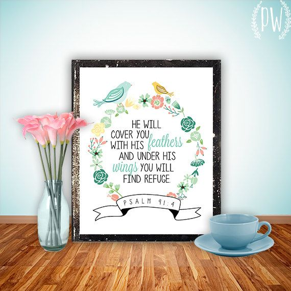 Bible Verse wall art print printable Scripture by PrintableWisdom, $5.00