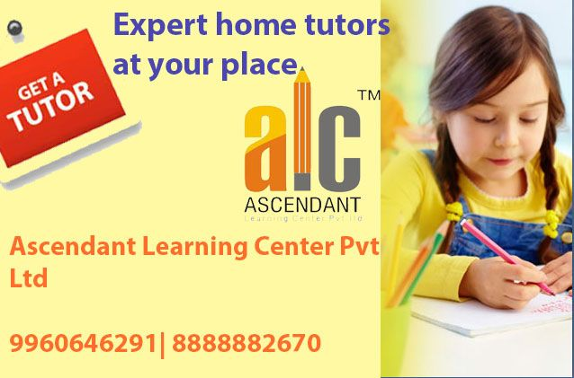 Ascending Learning Centre have experienced teachers for almost all subjects, who are ready to teach you at your place. Get the best teaching experience and prepare well for your exams. Study can become your hobby if you get the best buddy for studying. A home tutor can also be the best buddy to help you in studies and also can make learning easy for you. Hire a home tutor from #ALC.  contact us for home tutors: ALC HOME TUITION Classes   www.salmaanjum.com | www.alcgroup.in