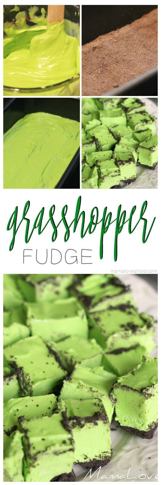 Grasshopper fudge is the perfect fun green recipe for your holiday parties.  Move over thin mints, this is so much tastier and available all year long!