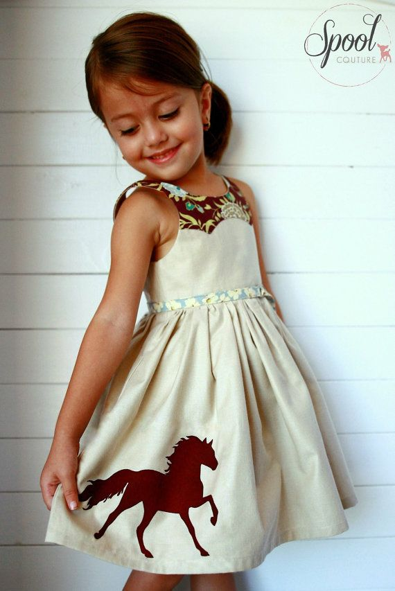 size 1 to 12 years Girls Dress PDF Sewing Pattern Disco Party Dress Ainslee Fox. Love the yoke!