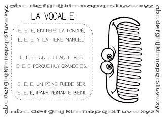 Mi grimorio escolar: CANCIÓN DE LA VOCAL E