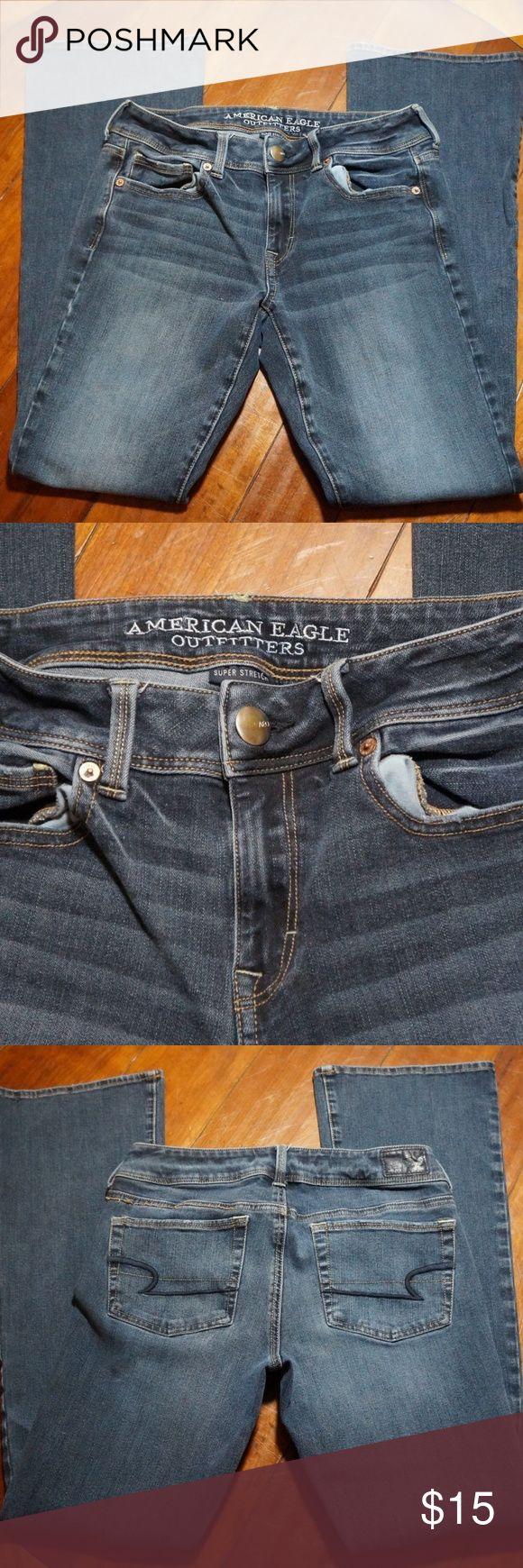 Womans AEO Denim American Eagle Super Stretch Jean DESCRIPTION: Womans AEO Denim American Eagle Super Stretch Jeans Size 6 American Eagle Outfitters Jeans