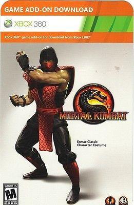 Ermac Classic Character Costume Mortal Kombat Xbox 360 DLC - NEW - FAST SHIPPING