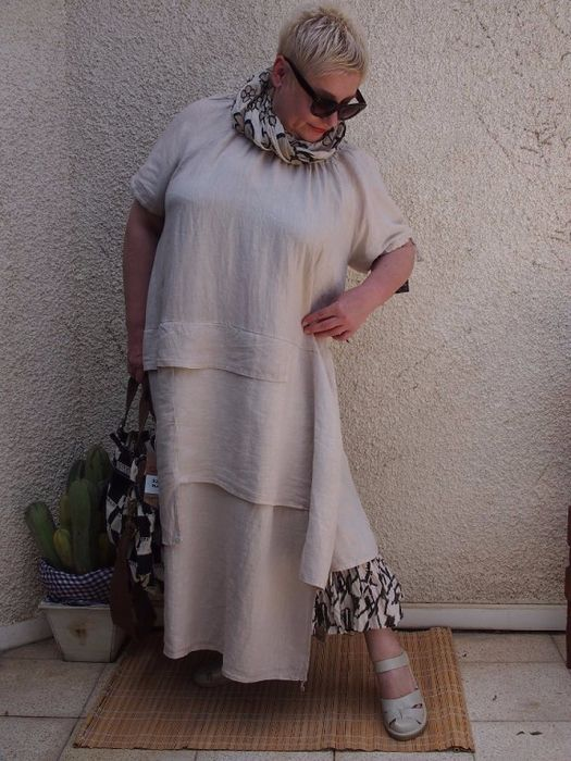 NEUTRAL WITH PRINTED UNDERSKIRT