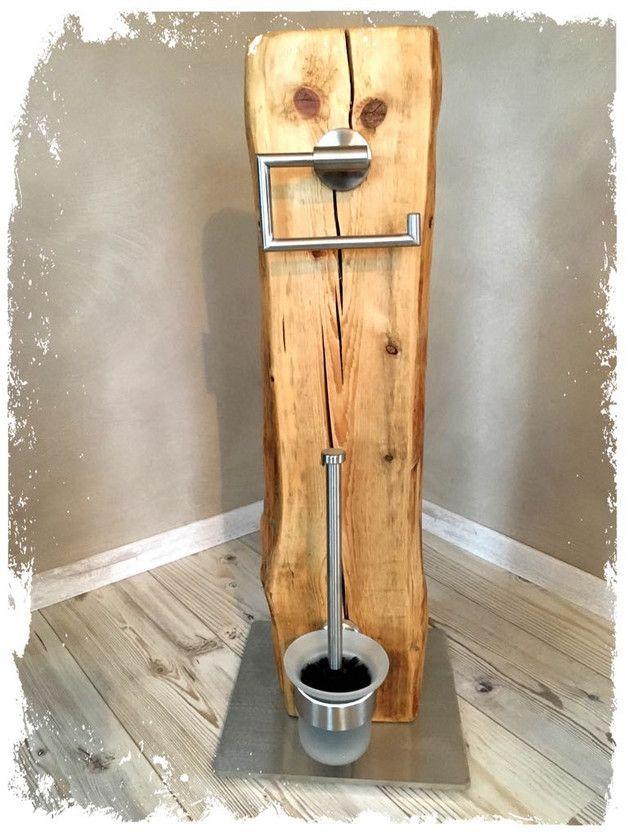 Zum Verkauf steht hier ein absolutes Unikat aus dem Hause **KonzeptFrei**. Dieses WC-Set wurde in Handarbeit von uns hergestellt. -Recyceltes Holz au