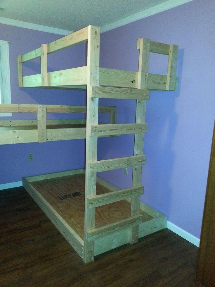 DIY Triple Bunk Bed | The Owner-Builder Network