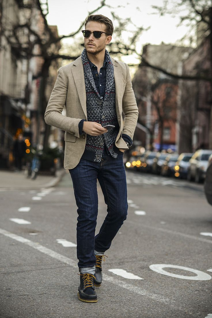 Club Monaco blazer | Life/After/Denim cardi | Levis shirt | True Religion jeans | Bonobos x Eastland boots | Oufit details at http://iamgalla.com/2014/12/ditto/