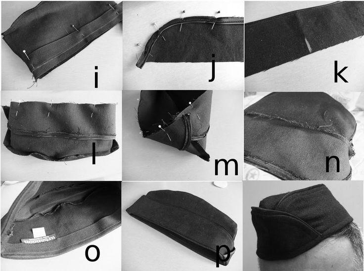 Garrison Cap, Wedge cap, flat cap, wedge cap, army, sewing, air force, costume, free, sewing, pattern, sewing pattern, mens cap, diy,