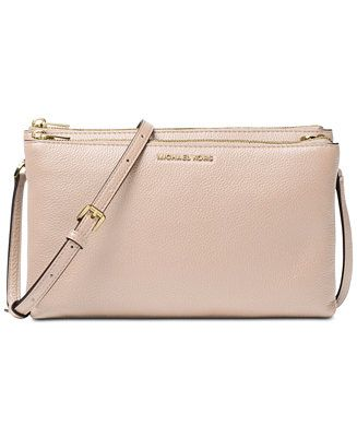 9c46f7bdfa69 Crochet Shoulder Bags · Shop Michael Kors Adele Double Zip Pebble Leather  Crossbody online at Macys.com. Glam