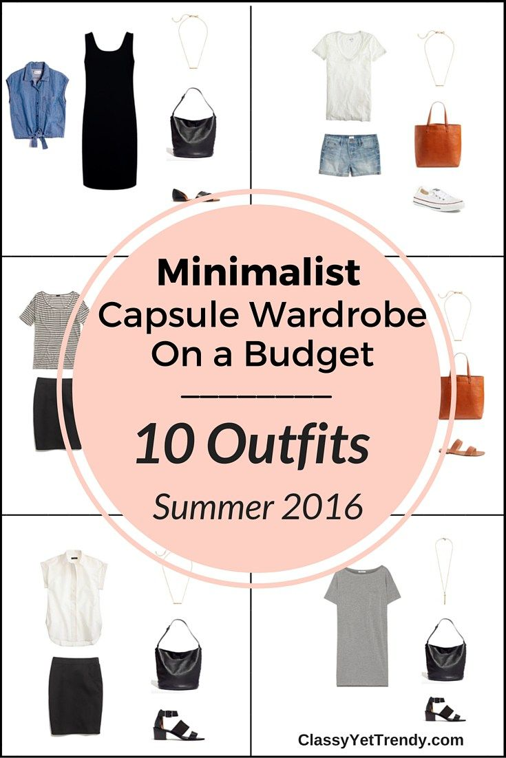 Create a Capsule Wardrobe On a Budget: 10 Minimalist Outfits - urban styles with simple, yet chic clothes and shoes.